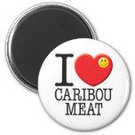 Caribou Meat Refrigerator Magnet