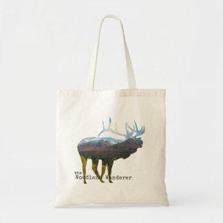 Caribou Natural Tote Bag (Animal)