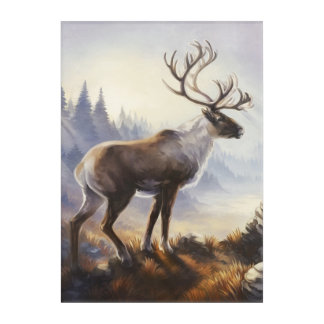 Caribou Print Acrylic Print