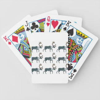 Caribou rows bicycle playing cards