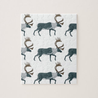 Caribou rows jigsaw puzzle