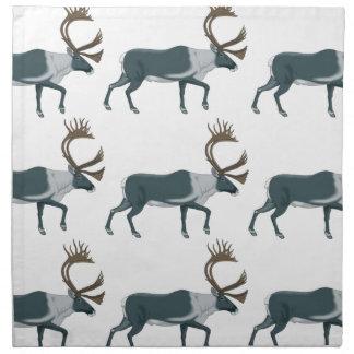 Caribou rows napkin
