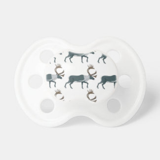 Caribou rows pacifier