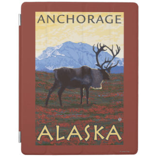 Caribou Scene - Anchorage, Alaska iPad Cover