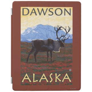 Caribou Scene - Dawson, Alaska iPad Cover