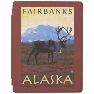 Caribou Scene - Fairbanks, Alaska iPad Cover