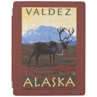 Caribou Scene - Valdez, Alaska iPad Cover