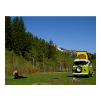 Caribou-Targhee National Forest Camping Photo Poster