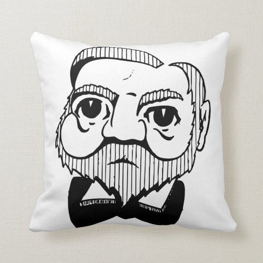 Caricature Andrew Carnegie Throw Pillow