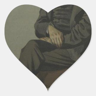 Caricature of Alexander Baillie Cochrane M.P. Heart Sticker