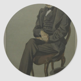 Caricature of Alexander Baillie Cochrane M.P. Round Sticker