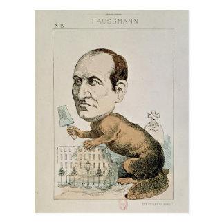Caricature of Baron Georges Eugene Haussmann Postcard