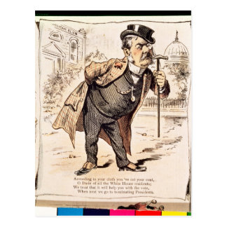 Caricature of Chester Alan Arthur, c.1883 Postcard