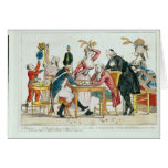 Caricature of Louis XVI  playing chess Greeting Card