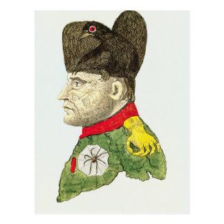 Caricature of Napoleon Bonaparte Postcard