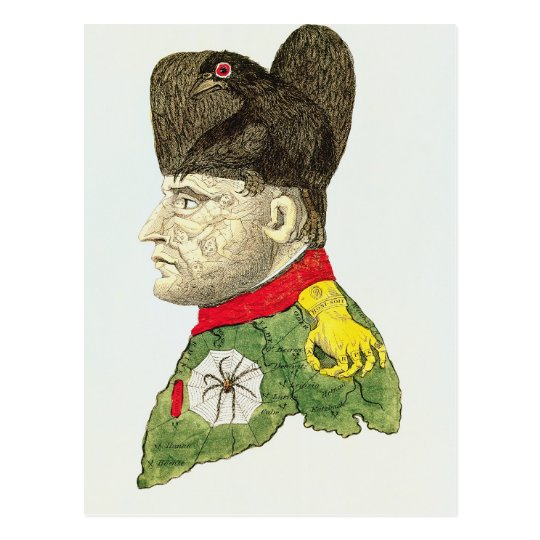 Caricature of Napoleon Bonaparte Postcard