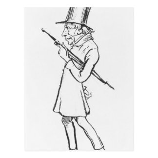Caricature of Soren Aabye Kierkegaard Postcard