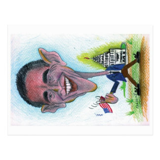 Caricature-Postcard Obama Postcard