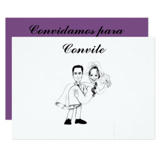Caricatures in invitations