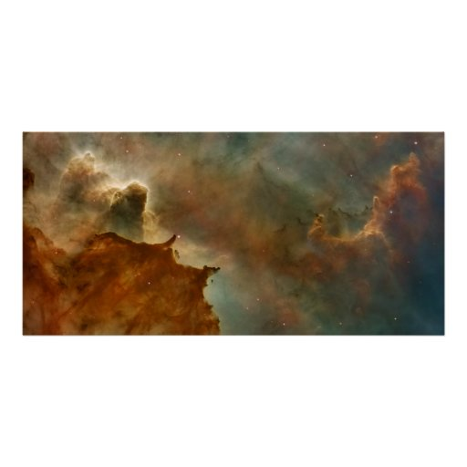 Carina Nebula Details- Great Clouds Poster
