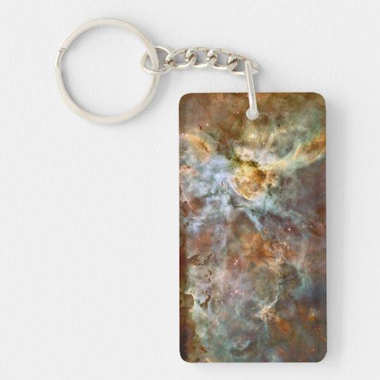 Carina Nebula Hubble Space Double-Sided Rectangular Acrylic Keychain