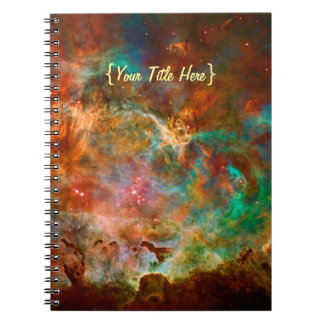 Carina Nebula in Argo Navis constellation Spiral Note Book