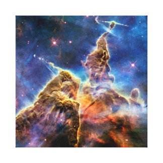 Carina Nebula Mystic Mountain Outer Space Photo Canvas Print