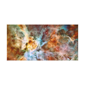 Carina Nebula NASA Hubble Telescope Space Photo Canvas Print