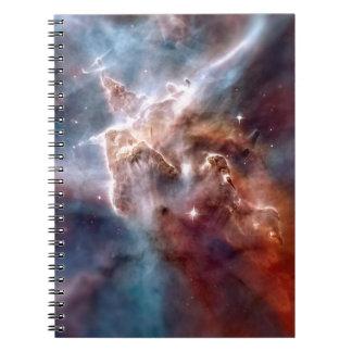 Carina nebula spiral notebooks