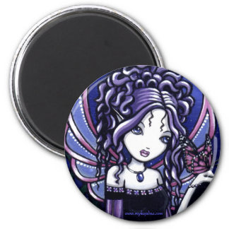 """""""Carina"""" Violet Butterfly Fairy Magnet"""