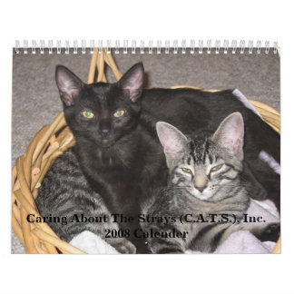 Caring About The Strays 2008 Wall Calender Calendar
