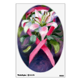 Caring Breast Cancer Awareness wall graphic