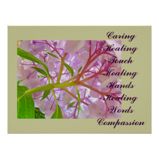 Caring Healing Touch Healing Hands Healing Words Poster