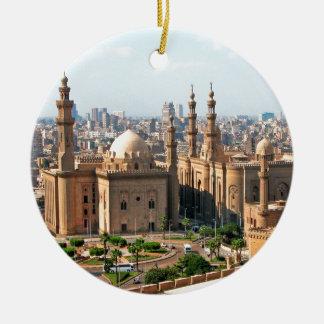 Cario Egypt Skyline Ceramic Ornament