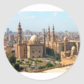 Cario Egypt Skyline Classic Round Sticker
