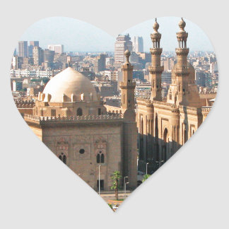 Cario Egypt Skyline Heart Sticker