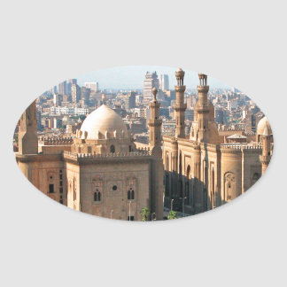 Cario Egypt Skyline Oval Sticker