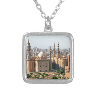 Cario Egypt Skyline Silver Plated Necklace