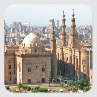 Cario Egypt Skyline Square Sticker