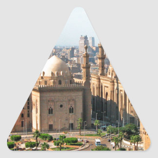 Cario Egypt Skyline Triangle Sticker