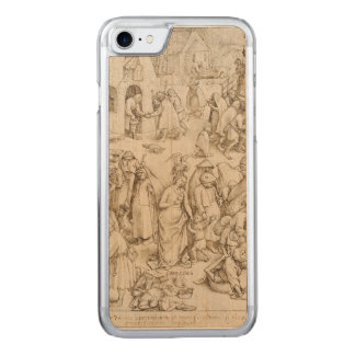 Caritas (Charity) by Pieter Bruegel the Elder Carved iPhone 7 Case