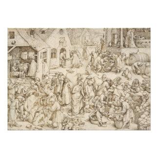 Caritas Charity by Pieter Bruegel the Elder Personalized Invitation