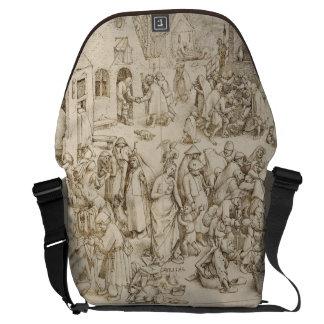Caritas (Charity) by Pieter Bruegel the Elder Messenger Bag