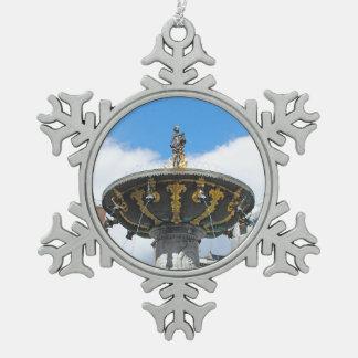 Caritas Well Copenhagen Denmark Pewter Snowflake Ornament