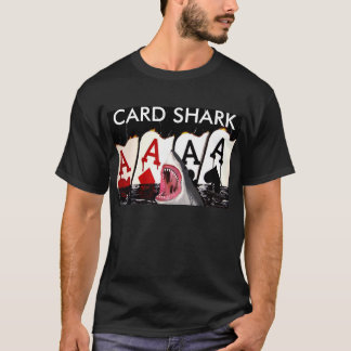 CARK SHARK POKER SHIRT ACES LAS VEGAS