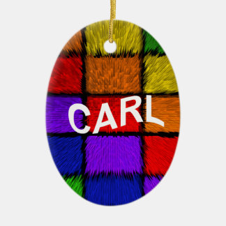 CARL CERAMIC OVAL ORNAMENT