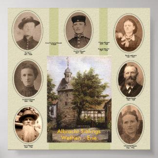 Carl, Christian, Christiane, Georg, Karoline, W... Poster