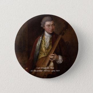 Carl Friedrich Abel 2 Inch Round Button
