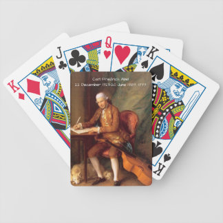 Carl Friedrich Abel Bicycle Playing Cards