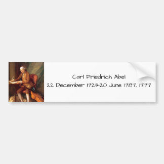 Carl Friedrich Abel Bumper Sticker